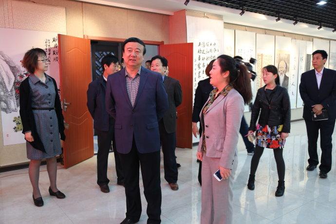 市委常委、宣传部长马俊民莅临我馆调研工作