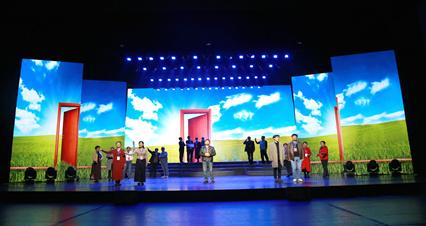 我馆创作情景诗朗诵《逐梦交响曲》参加陕西省第四届农民工诗歌朗诵会